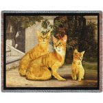 Abysinian Cat Family Blanket