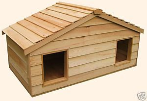 Outdoor Cat House Large Duplex Insulated Cedar Cat House Free Shipping