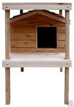 Large Insulated Outdoor Cedar Cat House with Platform and Loft