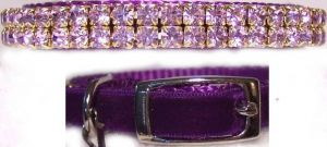 Sweetheart in Purple Velvet Cat Collar